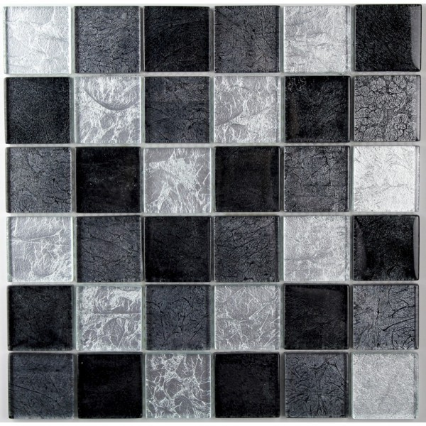"MOSAIQUE ""SUBLIME SILVER BLACK 48mm 30x30"""
