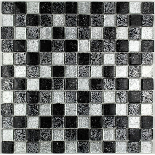 "MOSAIQUE ""SUBLIME SILVER BLACK 23mm 30x30"""